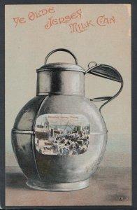 Channel Islands Postcard - Ye Olde Jersey Milk Can    RS15396