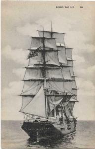 Riding the Sea 954 Nautica Sailing postcard  01.28