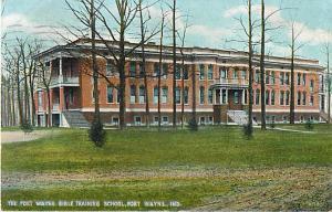 Fort Wayne Bible Training School Indiana IN 1910 D/B
