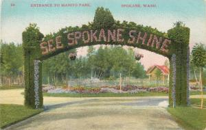 Washington: Ivy-Covered Arch @ Manito Park: See Spokane Shine c1909 Postcard pc