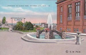 Michigan Traverse City Entrance To Clinch Park