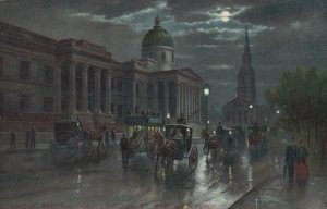 LONDON , England , 00-10s ; National Gallery at night ; TUCK 768