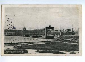 174138 DENMARK AALBORG railroad bridge TRAIN Vintage postcard