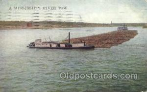 Mississippi River tow Steamer, Steam Boat, Steamboat, Ship, Ships, Postcard P...