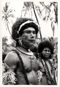 Papua New Guinea, Real Photo Native Papuas, Native Warrior (1930s) RP (18)