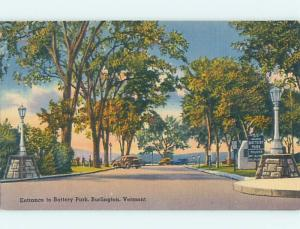 Unused Linen PARK SCENE Burlington Vermont VT hk6378
