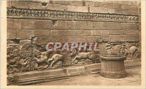 Old Postcard Puy Cathedrale Bas Reliefs decorating the Roman Wall of angelic ...