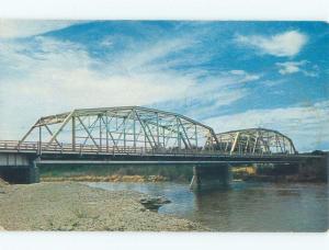Pre-1980 BRIDGE SCENE Greybull Wyoming WY d4531