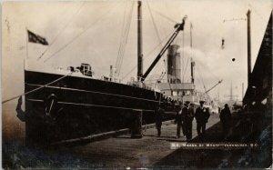 SS 'Moana' at Wharf Vancouver BC Passenger Ship c1908 Postcard G51