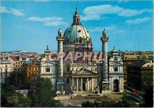 Postcard Modern Vienna Church of St. Charles