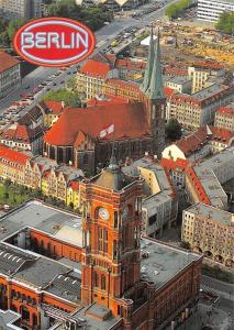 Berlin Rotes Rathaus, Nikolaikirche, Red Town Hall Nikolai Church Eglise