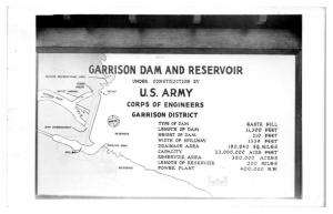 1959 RPPC Garrison Dam and Reservoir Map Lake Sakakawea Real Photo Postcard *5A