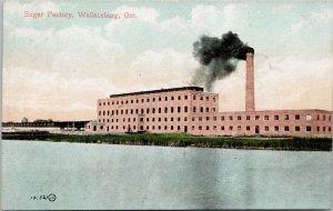 Sugar Factory Wallaceburg Ontario c1908 Blenheim & ? RPO Postcard G40