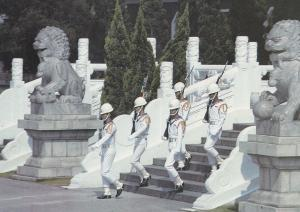 ROC Navy Guards at Taiwan National Revolutionary Martyrs Shrine Chinese War P...