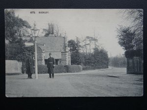 London Bromley BICKLEY Page Heath Lane showing TWO POLICEMEN c1909 Postcard
