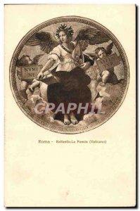 Old Postcard Roma Raffaello La Poesia Vaticano