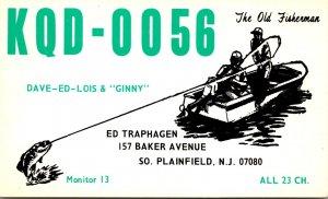 QSL Card KQD-0056 Ed Traphagen South Plainfield New Jersey