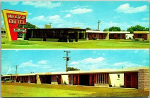 Deming, New Mexico Postcard MIRADOR MOTEL Highway 70 / 80 Roadside c1960s Unused