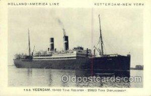 DD Rijndam Holland - America Line, Steamer, Steam Boat, Ship Unused