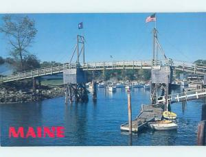 1980's PERKINS COVE BRIDGE Ogunquit By Wells & York & Portsmouth ME H7464