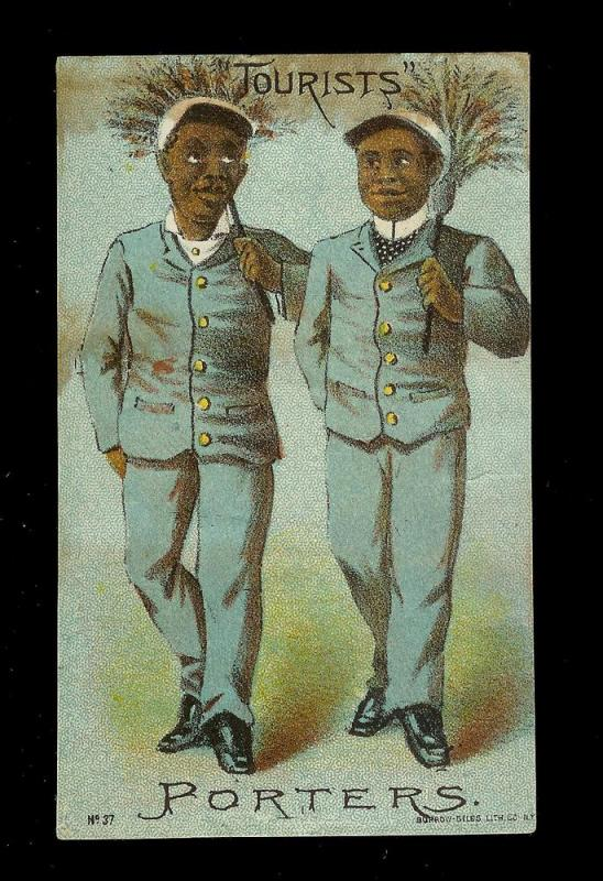 VICTORIAN TRADE CARD Mestayer's 'Tourists' Entertainment