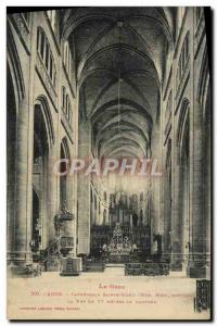 Old Postcard Auch Cathedrale Sainte Marie nave Organ