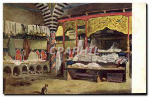 Old Postcard Fantasy Orientalism Lavatory in an Arab bath