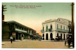 Panama - Panama City. 3 Stars, Chinese Silk Store, Imperial Pallace Ice Cream