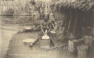 Grating Cassava, Sapele, Nigeria, West Africa African Nude Nudes Postcard Pos...