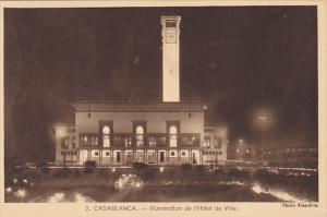 Morocco Casablanca Illumination de l'Hotel de Ville