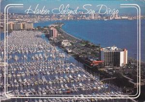 California San Diego Harbor Island Aerial View