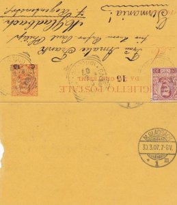 Postal Letter Card , Italy , 1907