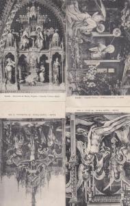 Madonna Di Loreto Crucifixion 4x Loreto Cappella Statue Old Postcard s