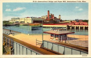 Minnesota International Falls International Bridge and Paper Mill Curteich