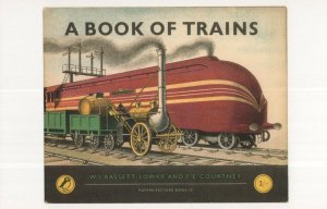 A Book Of Trains 1951 Puffin Postcard Book
