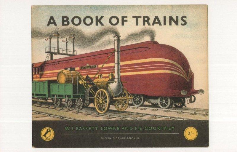 A Book Of Trains 1951 Puffin Postcard Book