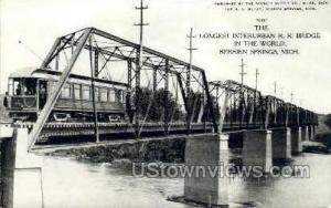 Interurban Railroad Bridge  Berrien Springs MI Unused