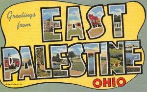 LP16  Large Letter East Palestine Ohio   Postcard