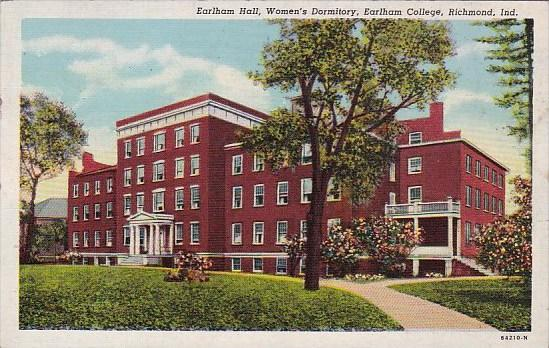 Indiana Richmond Earlham Hall Womens Dormitory Earlham College 1954