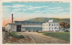 BRATTLEBORO  , Vermont , 1910s ; Presbrey-Leland Co., Granite Sheds & Office
