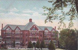 New Hampshire Concord Middle School Saint Pauls School