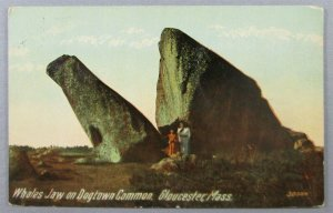 Whales Jaw On Dogtown Common, Gloucester MA Postcard (#7169)