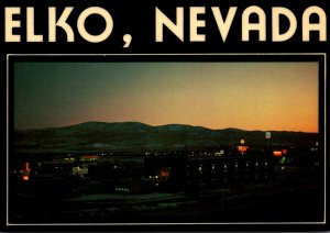 Nevada Elko Panoramic View At Sunset