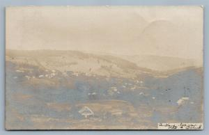 BUCKLAND MA PANORAMA 1906 ANTIQUE REAL PHOTO POSTCARD RPPC