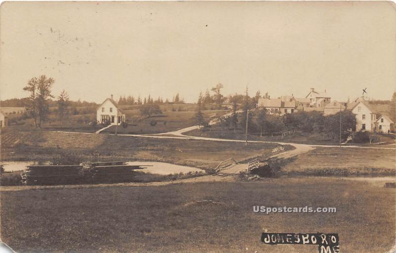 Birdseye View Jonesboro ME 1907 Missing Stamp