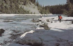 Scenic view,  The Kakisa River,  Peace River,  Alberta,  Canada,  40-60s