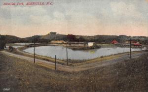 Asheville North Carolina~Riverside Park~Dirt Road Around Heart Shaped Lake~1910
