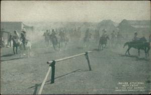 Cowboy & Indians Movie Scene THE PONY EXPRESS Paramount - Postcard #1