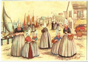 Netherlands, Painting, Dutch women in traditional Costumes