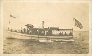 C-1910 Lake Passenger Steamer Ruth RPPC real photo postcard 5675